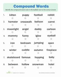 compound words quiz spelling worksheets worksheets and language