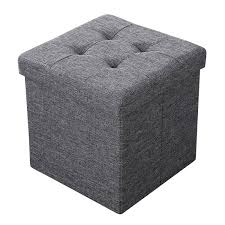 Padded Storage Ottoman Sofa Storage Bench Square Storage Ottoman Upholstered Storage