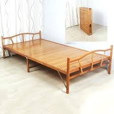 Wooden Folding Bed Foldable Bed Frame Tatami Metal Folding Bed Frame With Caters