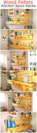 upcycled kitchen ideas wood pallets kitchen spice racks pallet ideas recycled