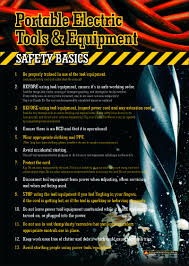 a3 size workplace safety poster with basic safety rules when using
