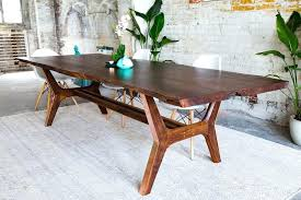 Dining Tables Nyc Live Edge Dining Table Walnut And Copper Live Edge Dining Table
