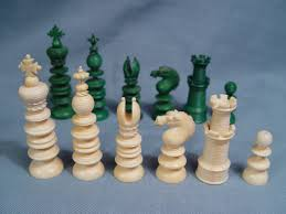 english ivory chess set white pieces