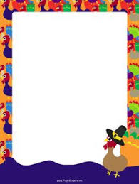 happy thanksgiving border stationary happy