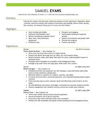 Order Resume Fast Food Worker Cover Letter
