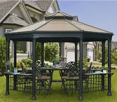 Outdoor Metal Fireplaces - contemporary outdoor metal gazebo outdoor metal gazebo design