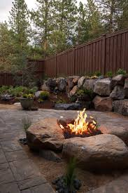 gallery of backyard fire pit landscaping ideas nh trends build