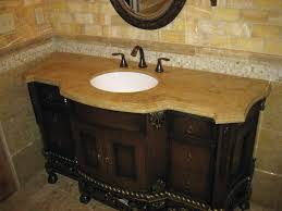 Vanity Tops For Bathroom by Bathroom Rustic Brown Stained Teak Wood Bathroom Vanities Without