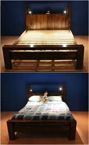 How To Build A Platform Queen Bed Frame by 21 Diy Bed Frame Projects U2013 Sleep In Style And Comfort Diy U0026 Crafts