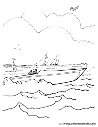 speed boat coloring sheet create a printout or activity