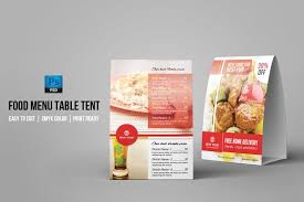 table tent template v02 stationery templates creative market
