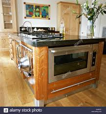 Kitchen Island With Oven by Stainless Steel Oven And Integral Hob In Central Island Unit In