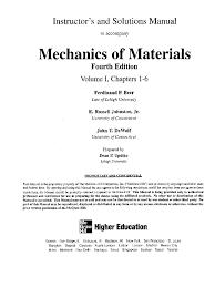 mechanics of materials 5th edition solution manual popular