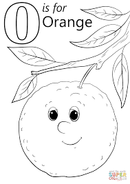 letter o is for orange coloring page free printable coloring pages