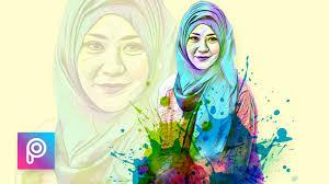 cara membuat watercolor abstrak dengan photoshop cara edit foto pelangi dengan picsart picsart tutorial indonesia