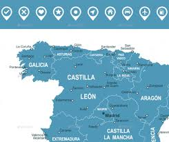 Asturias Spain Map by Spain Infographic Map Illustration By Dikobrazik Graphicriver