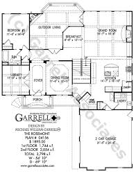 courtyard style house plans rosemont house plan house plans by garrell associates inc