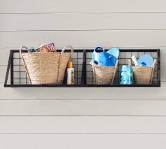 Modern Wall Mounted Shelves Kellan Wall Mount Shelf Pottery Barn