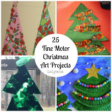 fine motor christmas art projects fine motor fridays lalymom