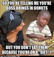 Donut Memes - skeptical third world kid would love a donut call center memes
