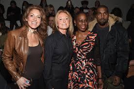kanye west takes notes at ralph lauren u0027s new york fashion week