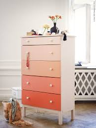 painting ikea dresser ombre painted dressers put color into perspective