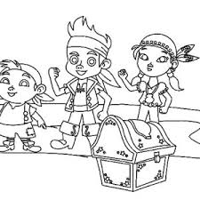 izzy jake neverland pirates coloring pages