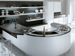 curved kitchen island kitchen modern curved kitchen island black and white modern