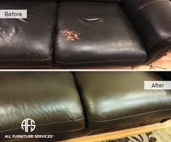 Leather Sofa Discoloration Gallery Before After Pictures All Furniture Services Part 3