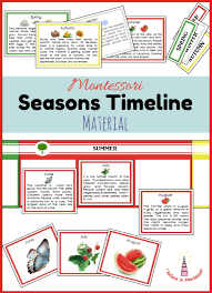 i believe in montessori seasons and months cards