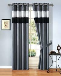 Grey White Striped Curtains Striped Window Curtains Teawing Co