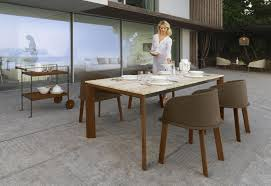 Travertine Patio Table Clariss Luxury Marble Patio Table Outdoor Furniture Shop