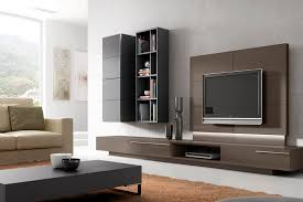 Contemporary TV Wall Unit  In Wood  Lacquered  HiFi PASS By - Living room wall units designs