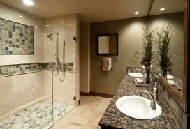 bathroom shower wall ideas bathroom decoration using brown granite bathroom vanity top