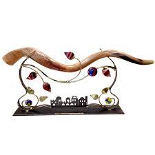 shofar stands high shofar stands metal sculpture tabletop