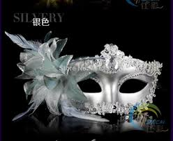 silver masquerade masks for women silver new masquerade fancy dress party prom eyemask feathers