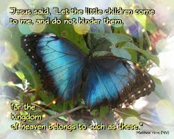jesus loves children butterfly scripture art matthew 19 14