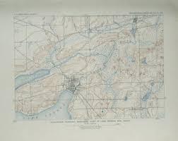 map of lake geneva wi lake geneva etsy