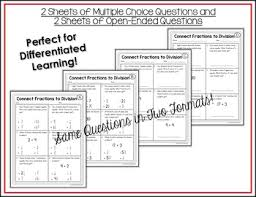 fractions and division worksheets by shelly rees tpt