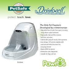 petsafe drinkwell platinum drinking water fountain 5 litres