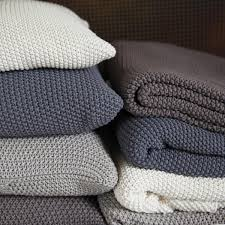 Cosy Cushions Cosy Warm U0026 Soft Moss Stitch Cotton Throw Moss Stitch Cotton