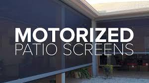 retractable motorized patio screen rainier central u0026 northern