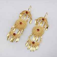 arabian earrings anniyo two color earrings for women gold color arabian