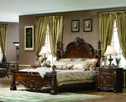 Traditional Style Bedrooms - american traditional style walnut color bedroom buy bedroom