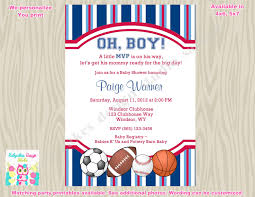 baby shower sports invitations for boy sports theme baby shower invitation invite sports baby shower