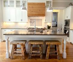 island for kitchen with stools classic kitchen island ideas with log bar stool and chrome light