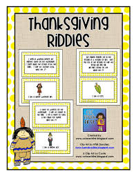 clip by carrie teaching thanksgiving riddles cards
