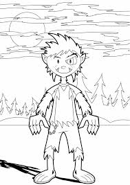 Free Halloween Coloring Page by Halloween Coloring Pages Werewolf For Kids Hallowen Coloring