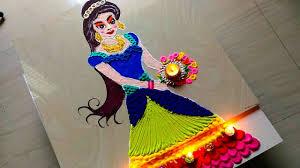 Barbie Doll Rangoli