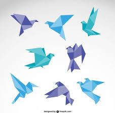 Origami Illustrator - vector set of origami birds graphics free vector in adobe